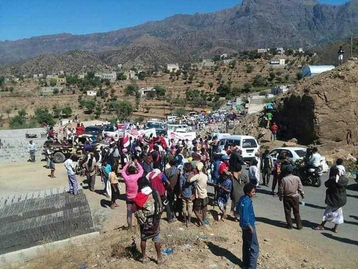 مسيرة راجلة لمطالبة اللجنة الرئاسية بكشف حقيقة اغتيال العميد الحمادي للرأي العام