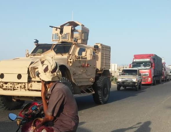 أبين.. تعزيزات عسكرية سعودية تصل شقرة في طريقها إلى عدن